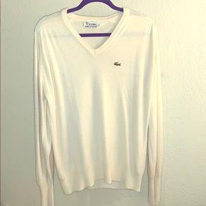 Lacoste VINTAGE 🐊 IZOD v-neck varsity sweater